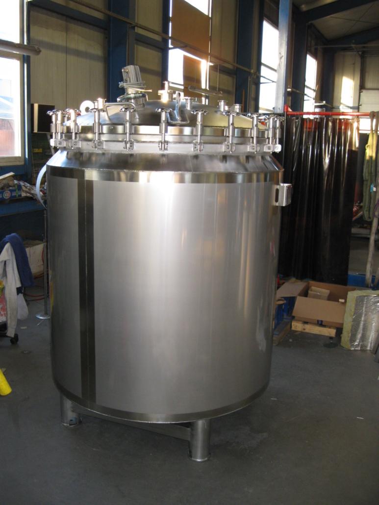 Ruehrbehaelter 1,5 Kubikmeter für Glasproduktion
