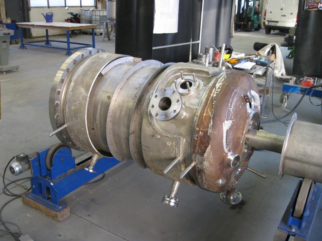 Umbau eines vorhandenen 700 Liter Reaktorbehaelters