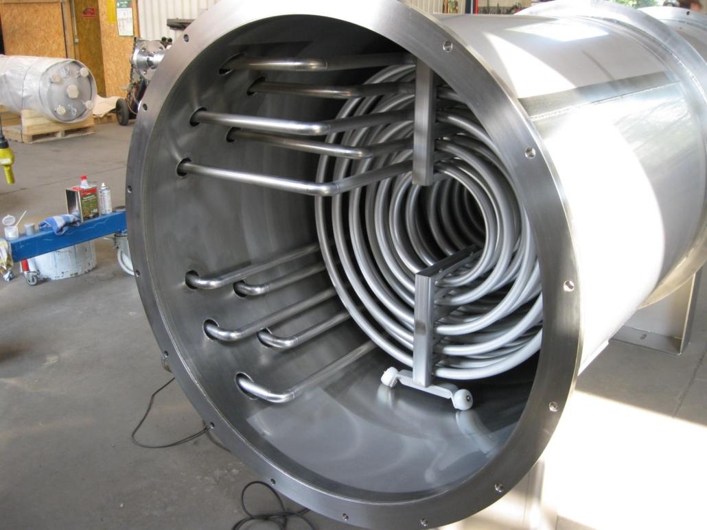 eingebautes Rohrbuendel 25qm in Eiskondensato
